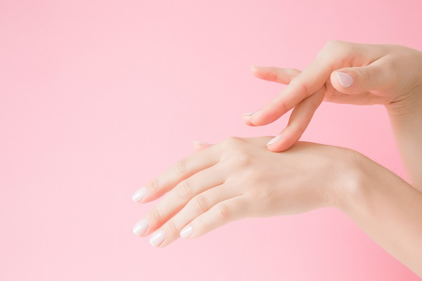 Woman with youthful hands after Radiesse at Park Meadows Cosmetic Surgery