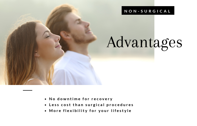 Nonsurgical advantages