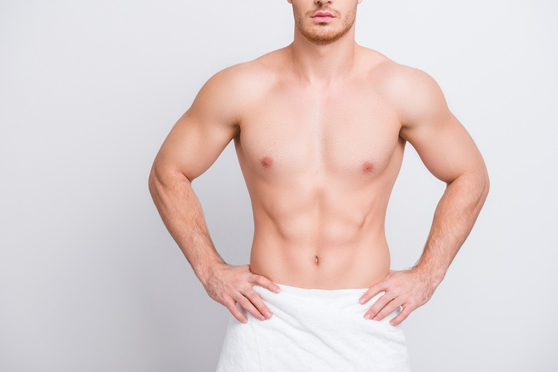 Man after gynecomastia surgery